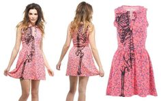 Ladies Wishbone Skeleton Posey Dress   Iron Fist ... need this!