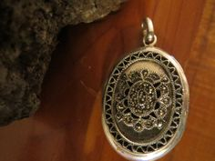 This Brilliant Vintage Sterling Silver Locket with Marcasites design...