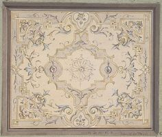 Jules-Edmond-Charles Lachaise | Design for a Study Ceiling | The Met