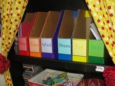 good idea for homeschool lesson plans, if I have the space
