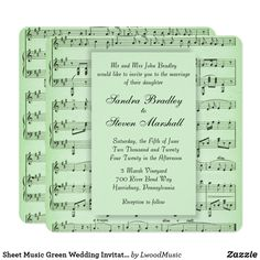 Sheet Music Green We
