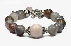 Universal Love... Botswana Agate Opal Bracelet. Genuine by iyildiz, $32.00