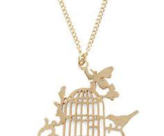 lil birdy retro necklace