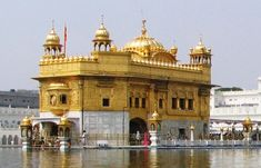 Golden Temple    This temple is also known as Darbar Sahib or Hari Mandir Sahib. It is actually a Sikh Gurdwara that is located in Amritsar, Punjab. The dome of this temple is covered with a gold leaf and the interiors of temple are decorated with precious stones in a floral design.