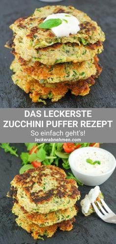 Zucchinipuffer Rezept - Kalorienarm, fettarm und gesund