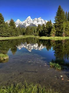 Schwabacher's Landing is another wonderful location for photography as well as wildlife watching. Small ponds make perfect reflecting pools for the towering Tetons, and surrounding wetlands provide plentiful willows for hungry moose.