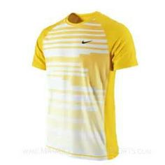 aef8af64ca3da Nike Slam Shock Mens Tennis Shirt Yellow