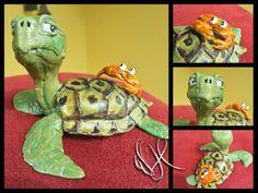 turtle and rab handmade polymer clay https://www.facebook.com/Whitewolf.handmade