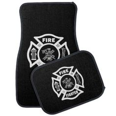 Firefighter Car Mats Personalized