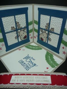 Janine Rawlins Stampin'Up! Independent Demonstrator : Corner Pop-up Card using Cookie Cutter Christmas Bundle