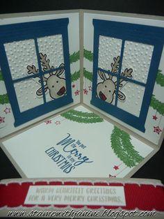 Janine Rawlins Stampin'Up! Independent Demonstrator : Corner Pop-up Card using Cookie Cutter Christmas Bundle