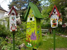 Weiteres - Kindergarten Abschied Erzieher Vogelhaus m. Stock - ein Designerstück von Die-Original-Vogelvilla bei DaWanda