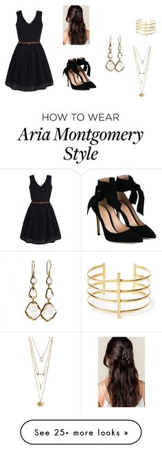 """""""Aria Montgomery - The Noel Party"""" by ma-rizo on Polyvore featuring Yumi, Gianvito Rossi, Ippolita and BauXo"""