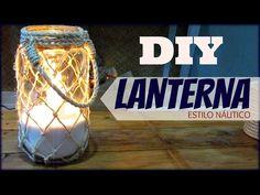 DIY | LANTERNA ESTILO NÁUTICO | #CARADELOJA | LETICIA ARTES - YouTube Pots, Ideias Diy, Diy Crafts, Make It Yourself, Videos, Instagram, Biscuit, Nautical Craft, Jar Lanterns