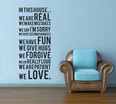 Wall art - House Rules