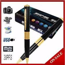 Pen Camera, Mobile Accessories, Camcorder, Spy, Mini, Tableware, Black, Video Camera, Dinnerware