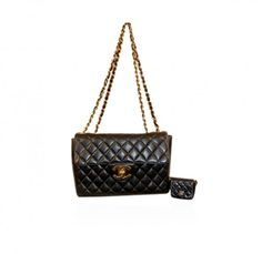 Authentic Chanel Black Timeless Classic Flap Bag