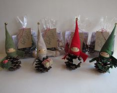 Etsy の 8 Pinecone Elf Tree Topper Christmas Ornament by kaniko