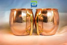 Take at look these barrel shaped solid #Coppermugs, Set of 2 - great for serving the #MoscowMule #cocktail!