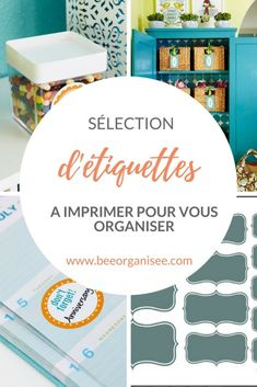 Selecting printer labels to organize Journal Organization, Home Organisation, Decoupage, Flylady, Home Management, Tips & Tricks, The Selection, About Me Blog, How To Plan