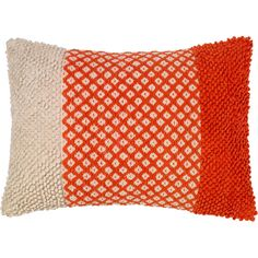 Frida Bazaar Red Textured Beige Pillow 15.75x23.5 ($117) ❤ liked on Polyvore featuring home, home decor, throw pillows, cream colored throw pillows, red home accessories, red throw pillows, cream throw pillows and off white throw pillows
