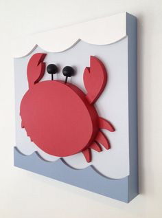 Hey, I found this really awesome Etsy listing at https://www.etsy.com/listing/216326163/crab-nautical-kids-room-decor-nautical
