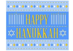 Free Happy Hanukkah printable sign #hanukkah #decoration