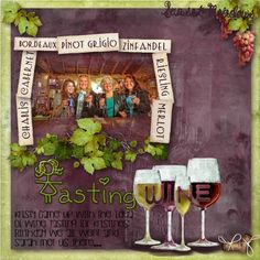 Newsletter Challenge- Font Tasting wine - Weekly Newsletter Challenge - Gallery - Scrap Girls Digital Scrapbooking Forum