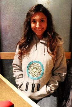 roya.  a custom dreamcatcher embroidery made from your favorite sweatshirt.. $45.00, via Etsy.
