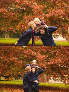 Navy - perfect for rich Autumn or Winter photo's! Autumn Family Session. Family of Three.