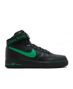 sports shoes e196a 5d6fa Air Force 1 High Vlone Black, Lucky Green 773043-906775