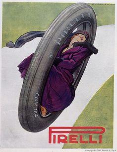Marcello Dudovich - Pirelli, 1921   Advertising poster   laura@popdesign   Flickr