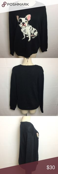 PJ by Peter Jensen UO French bulldog sweater Oh by peter Jensen urban outfitters French bulldog knit crew size xl see pictures for details please ask any additional questions before offers or purchases open to all offers Urban Outfitters Sweaters Crew & Scoop Necks