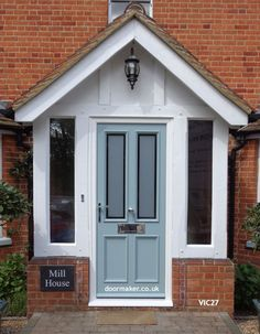 victorian front doors painted victorian front doors painted victorian front doors painted victorian front doors painted victorian front doors painted v Porch Uk, Front Door Porch, Cottage Porch, Front Porch Design, House With Porch, House Front, Front Door With Canopy, Porch Doors Uk, Porch Designs Uk