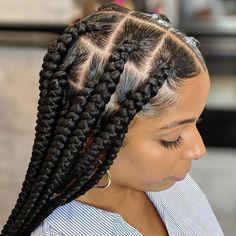 Box Braids Hairstyles For Black Women, Braids Hairstyles Pictures, African Braids Hairstyles, Braids For Black Hair, Hair Pictures, Weave Hairstyles, Girl Hairstyles, Black Hairstyles, Protective Hairstyles