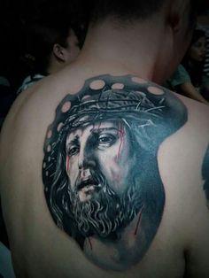. Jesus Tattoo, Portrait, Tattoos, Tatuajes, Headshot Photography, Tattoo, Portrait Paintings, Drawings, Portraits