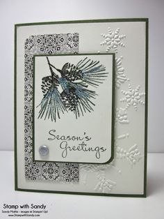 Stamp With Sandy: Watercolor Winter and More Merry Messages Stamp Sets, Stampin' Up
