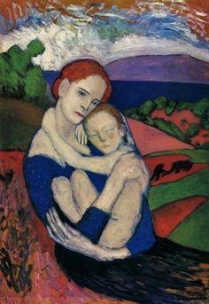 Mère et enfant, par Pablo Picasso