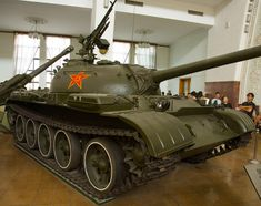 A Type 59 main battle tank on display at the Military Museum.