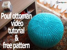 Pouf otttoman knitting tutorial, #knitted pouf pattern, #free knitting pattern, #knitte pouf tutorial