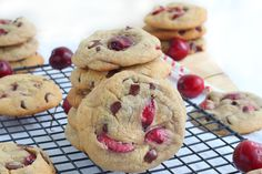 Cherry Chocolate Cookies - by miraclerecipes.com