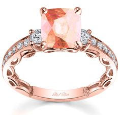 Rose gold engagement ring with diamonds and morganite, gorgeous! Forget the man I just want a rock!