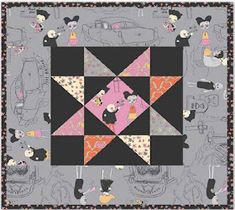 Quilt Inspiration: Free Pattern Day: Halloween Halloween Quilt Patterns, Halloween Quilts, Halloween Fabric, Fun Halloween Crafts, Diy Halloween Decorations, Fall Decorations, Pumpkin Quilt Pattern, Twister Quilts, Quilting Projects