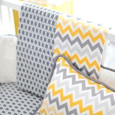 Blanket   Mellow Yellow Yellow and Grey Crib Baby Bedding Set