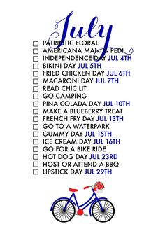 July Seasonal Living List – Paper & Glam