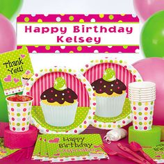 Our Sweet Treats Party Supplies are a sweet way to celebrate your birthday!