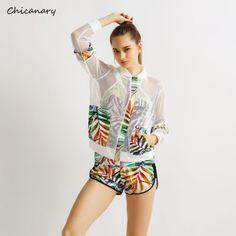 Mesh-Hollow-Out-Zipper-Running-Coats-Floral-Print-Women-Sun-Protection-Outwear