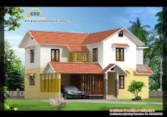 beautiful homes | Beautiful Villa Elevations - Kerala home design and floor plans