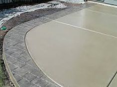 plain concrete patio with border - Google Search                                                                                                                                                                                 More
