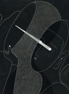 Moonassi drawing de Daehyun Kim, es una serie de imágenes en blanco y negro que nos trasportan a un mundo mágico inspirado en la tradición asiática
